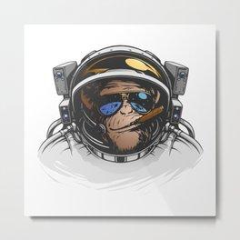 Space Monkey Metal Print