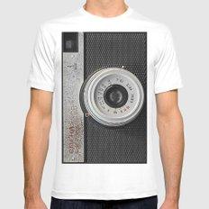 camera 5 White MEDIUM Mens Fitted Tee