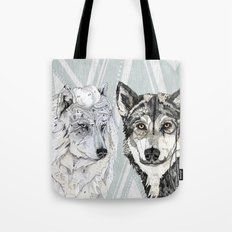 Wolf Family Portrait Tote Bag