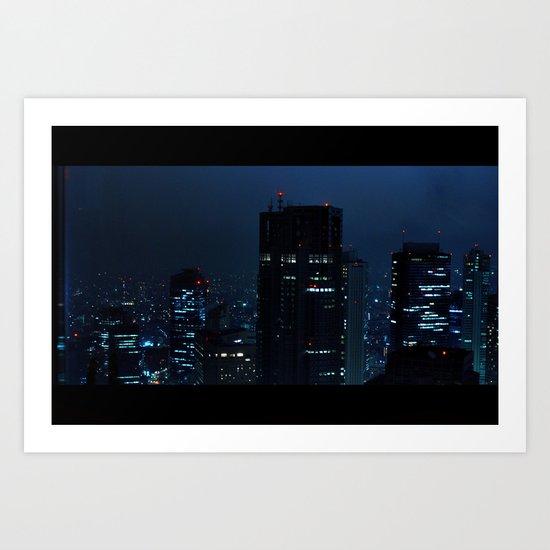 Lost in Translation - Tokyo Blues Art Print
