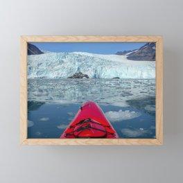 Paddling to Aialik Glacier Framed Mini Art Print