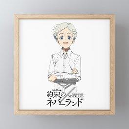 Norman The Promised Neverland Framed Mini Art Print