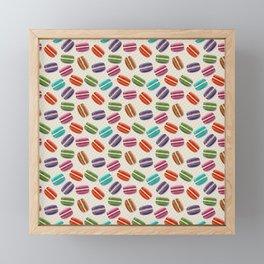 Cute Macarons Pattern with Polka Dots Framed Mini Art Print