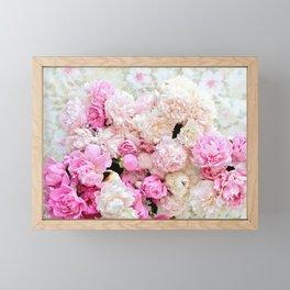 summer peonies Framed Mini Art Print