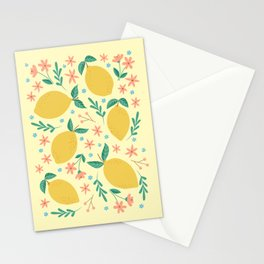 Mellow Yellow Lemons Stationery Cards