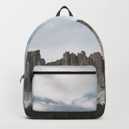 LANDSCAPE PHOTOGRAPHY OF GRAY AND BROWN MOUNTAIN Backpack