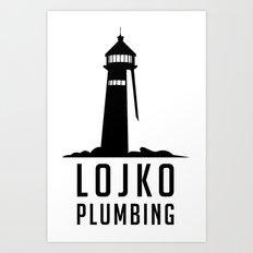 Lojko Plumbing Art Print