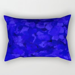 Rich Cobalt Blue Abstract Rectangular Pillow