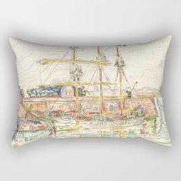 """Paul Signac """"Docks at Saint Malo"""" Rectangular Pillow"""