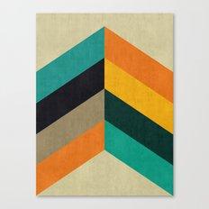 Minimalist and colorful chevron Canvas Print