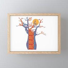African Baobab tree of life at Sunset Framed Mini Art Print