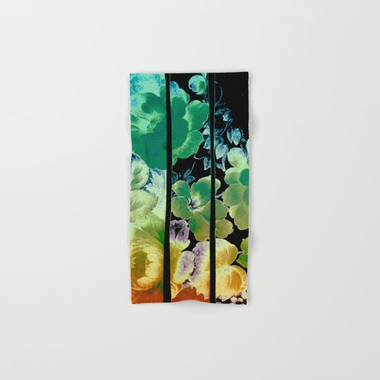 trapped floral Hand & Bath Towel