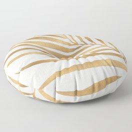 Metallic Gold Palm Leaf Floor Pillow
