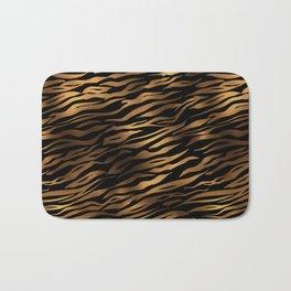 Gold and black metal tiger skin Bath Mat