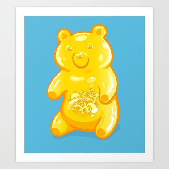 Grizzly Gummy Art Print