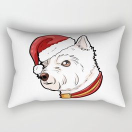 West Highland White Terrier Dog Christmas Present Rectangular Pillow