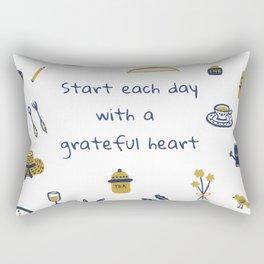 Start Each Day With a Grateful Heart - Cute things Rectangular Pillow
