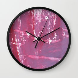 Pale violet Wall Clock