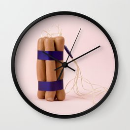Dynamite Sausages Wall Clock
