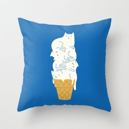 Cats Ice Cream Deko-Kissen