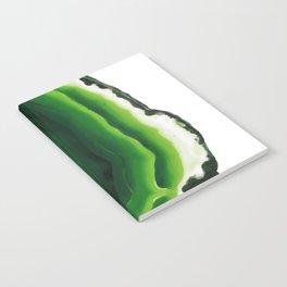 Green Agate Geode slice Notebook