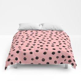 raspberry spotty mess Comforters