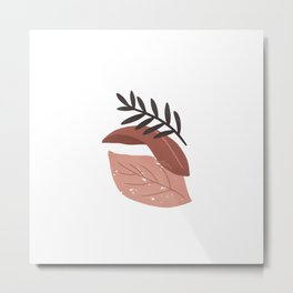 Bara - Leaves composition Metal Print