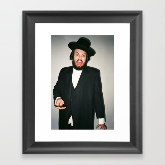 Rabbi Carlos Framed Art Print