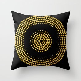Abstract gold confetti Throw Pillow