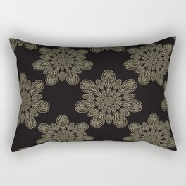 Boho Arabesque Ornamental Mandala Rectangular Pillow