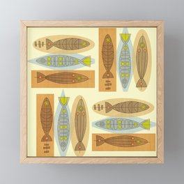 Fish In A Midcentury Modern Style Framed Mini Art Print