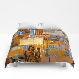 Meandering the Cellar of Peace Contemporary Abstract Comforters