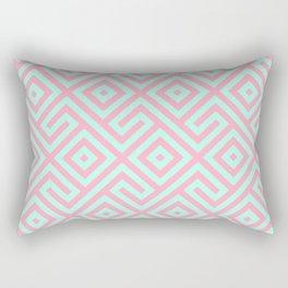 Geometrical pink teal abstract argyle diamond pattern Rectangular Pillow