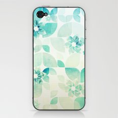 Flowers and Snowflakes Pattern iPhone & iPod Skin