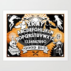 XRAY Spirit Board Art Print