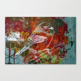 Sparrow Graffiti Canvas Print
