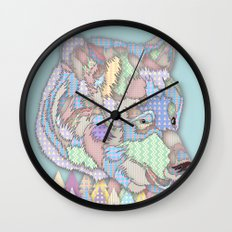 Bear Forest Wall Clock