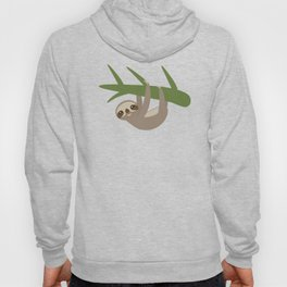 Three-toed sloth on green branch Hoody
