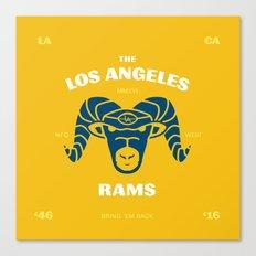 LA Rams are Back Canvas Print