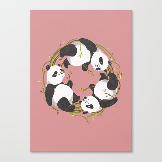 Panda dreams Canvas Print