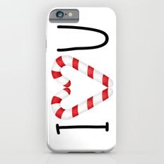 I Love You - Candy Canes Heart iPhone 6s Slim Case