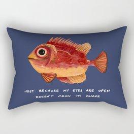 Not Awake Fish Rectangular Pillow