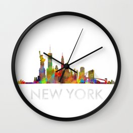 NY-New York Skyline HQ Wall Clock