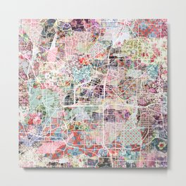 Akron map Metal Print