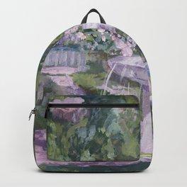 Spring garden, impressionist painting, Sorolla interpretation Backpack