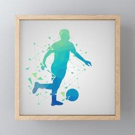 Abstract Soccer Player Framed Mini Art Print