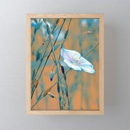 Flax turquoise Framed Mini Art Print