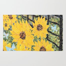Sunflowers and Butterflies Rug