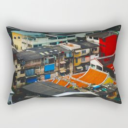 Thailand Rooftops Rectangular Pillow