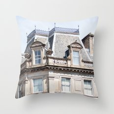 Glasgow rooftop Throw Pillow